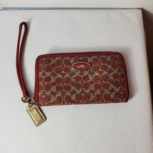 Coach leather Wristlet With ID Holder